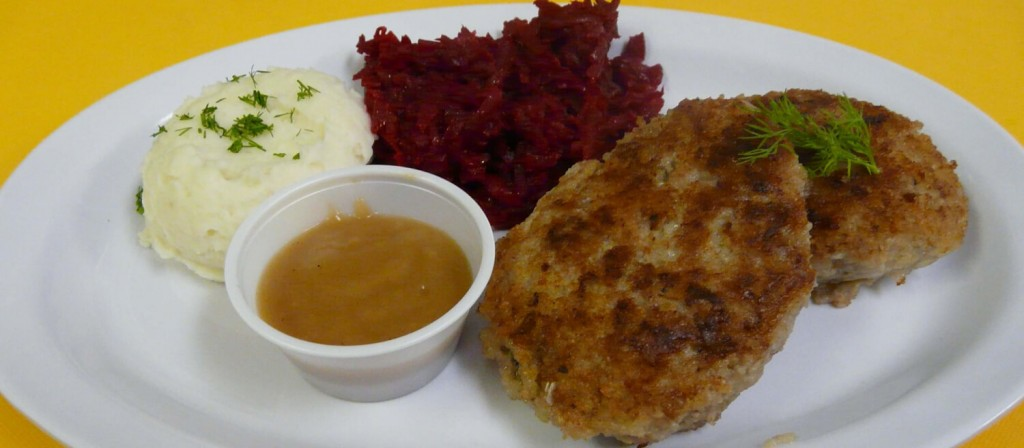 Pork-Patty-with-mashed-potato-and-red-beets